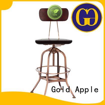 Hot round swivel bar stools bistro Gold Apple Brand