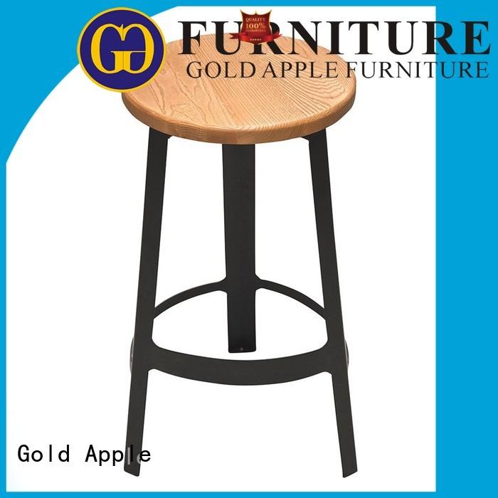 Gold Apple Brand counter back wooden stool chair backs