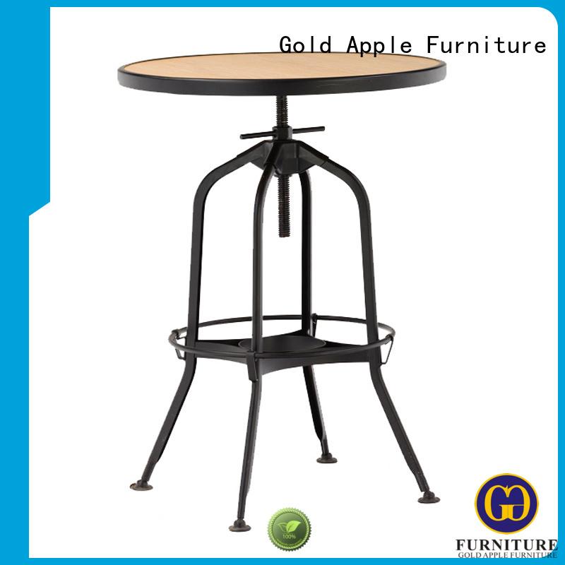 style steel kitchen Gold Apple Brand dark wood round dining table