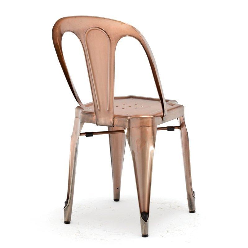 wholesale dining vintage high industrial rose gold metal bar stool GA2101C