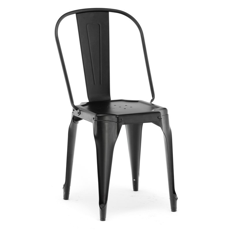 Retro Stacking Black Chair GA2102C-45ST