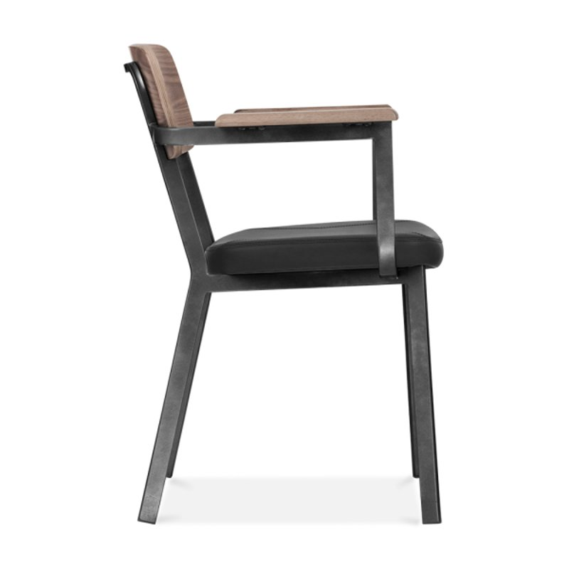 PVC Leather Strong Wooden Back Upholstered Armchair GA3001BC-45STP