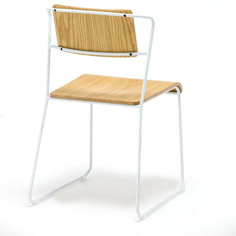 Cheap Ash Veneer Plywood Cafe Stacking Chair GA3601C