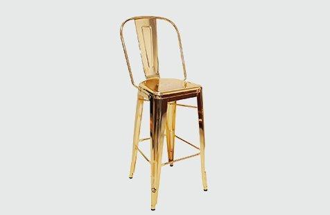 Industrial Brass Color Metal Counter Bar Chair GA101C