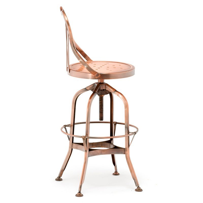 Bar Furniture chrome gold copper stainless steel frame Bride Veil Counter Stool GA404BC