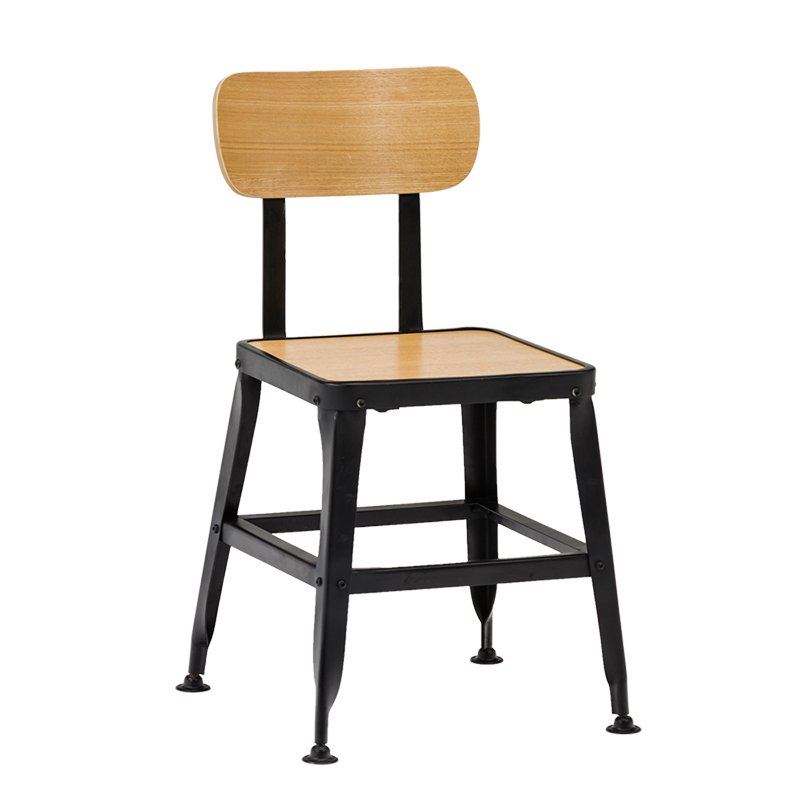 Industrial Wooden Chair With Natural Oak Wood Veneer Plywood  GA501C-45STPW
