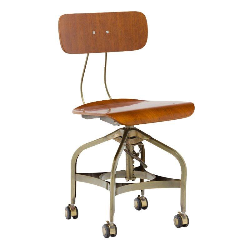 Vintage Office Toledo Chair With Wheels GA402C-45STW