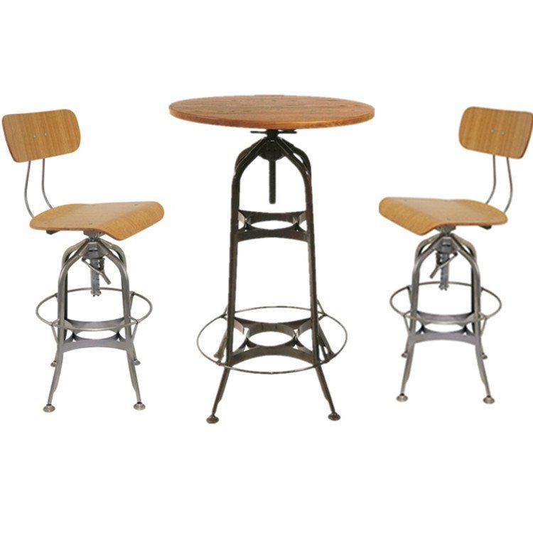 Industrial Bar Furniture Toledo Swivel Bar Table and Chairs GA402