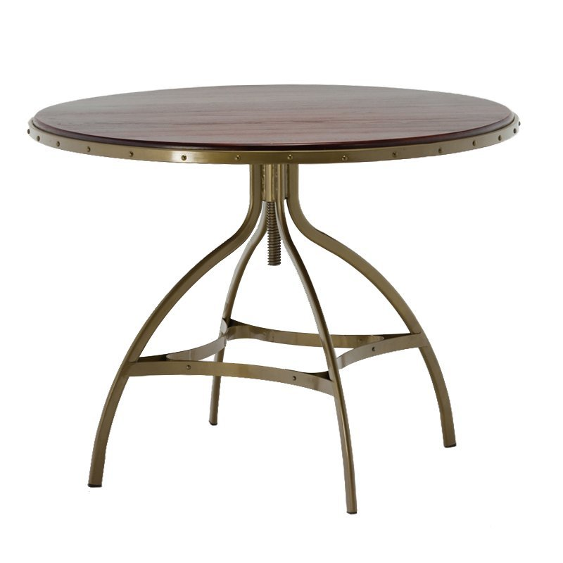 Adjustable Height Metal Frame Dining Room Tables GA606T
