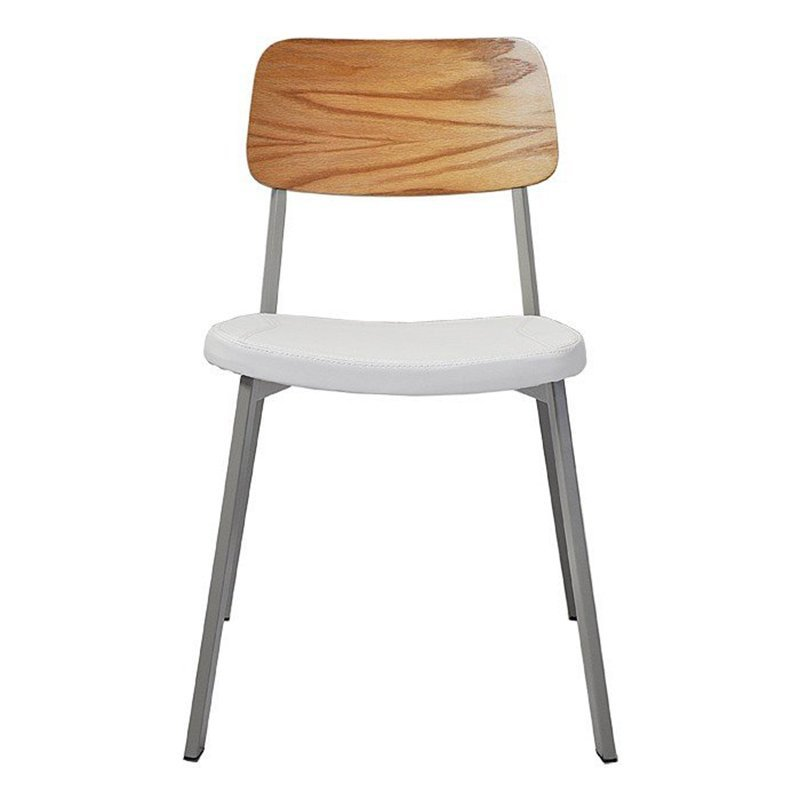Upholstered Wooden Seat Industrial Metal Chair Wholesale GA3001C-45STP