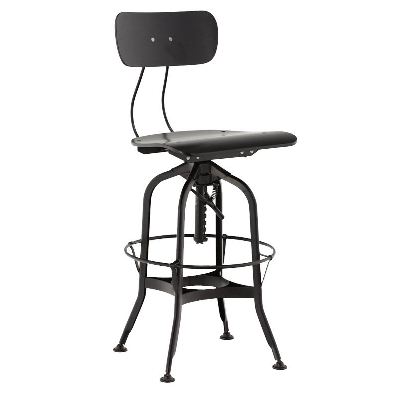 Wood Top Seat Commercial Metal Bar Stool GA402C-65STW