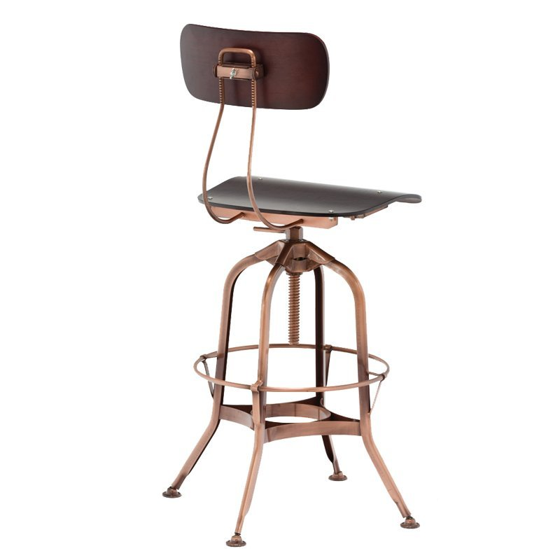 Swivel Metal Bar Stools with Backrest for Bistro Pub GA403BC-65STP