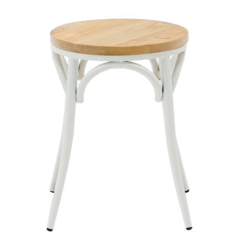 Replicate metal bentwood bar stool with timber seat GA901ST-45STW