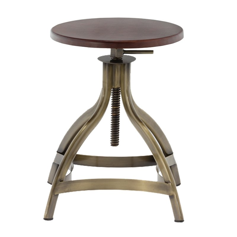 Retro Bar Stool Leg Metal Swivel Bar Stool GA606C-45STW