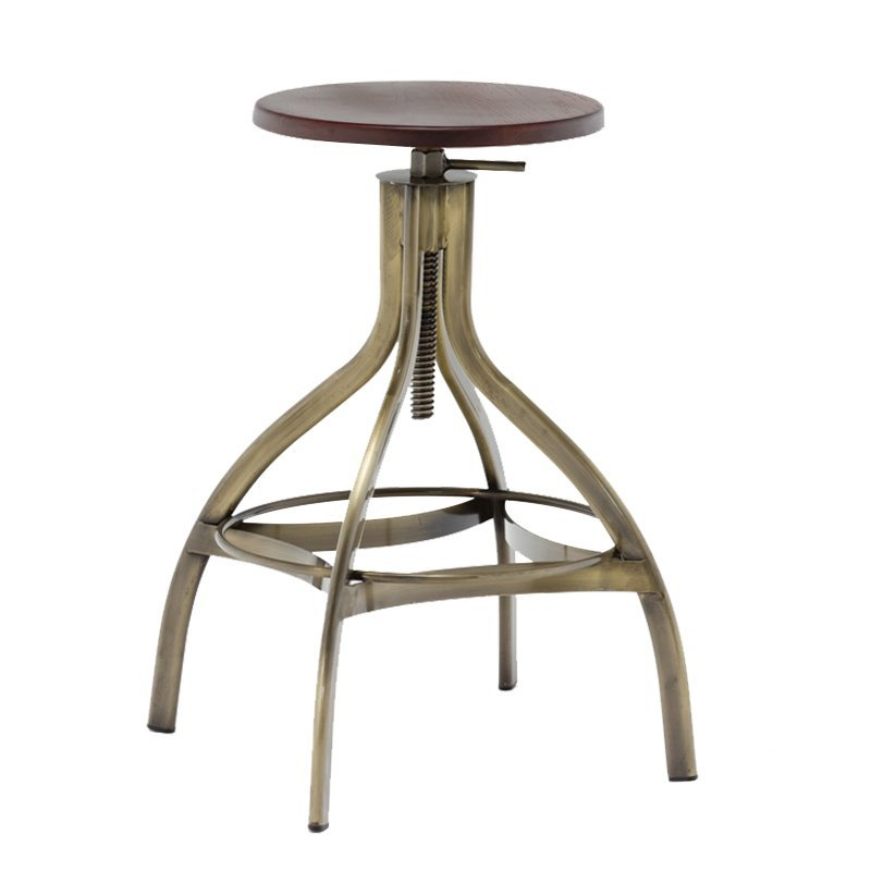 Solid Wood and Metal Swivel Bar Stool GA606C-65STW