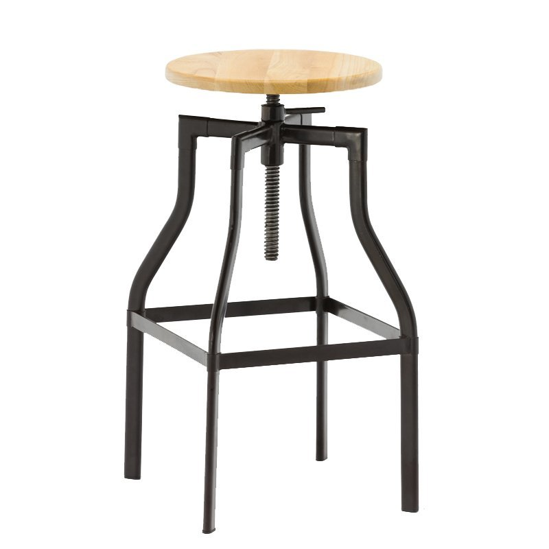 Cheap Industrial Adjustable Stool Durable Leather Bar Chair Swivel Bar Stool GA601C-65ST