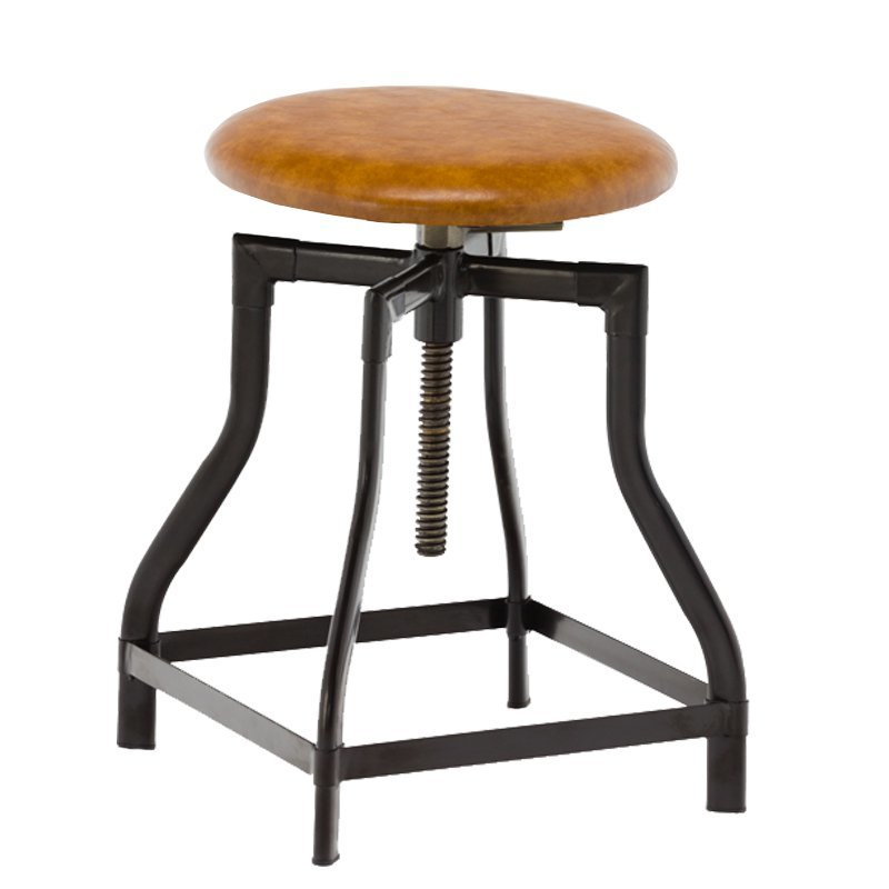 Vintage Swivel Metal Toledo Barstool with Solid Wood GA601C-45STP
