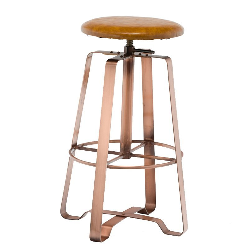 Powder Coating Swivel Metal Bar Stool GA607C-65STP