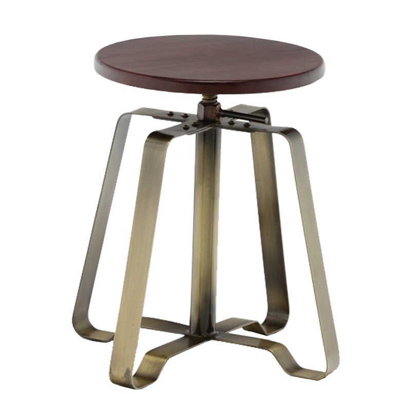 Timber Seat Swivel Turner Bar Stool GA607C-45STW