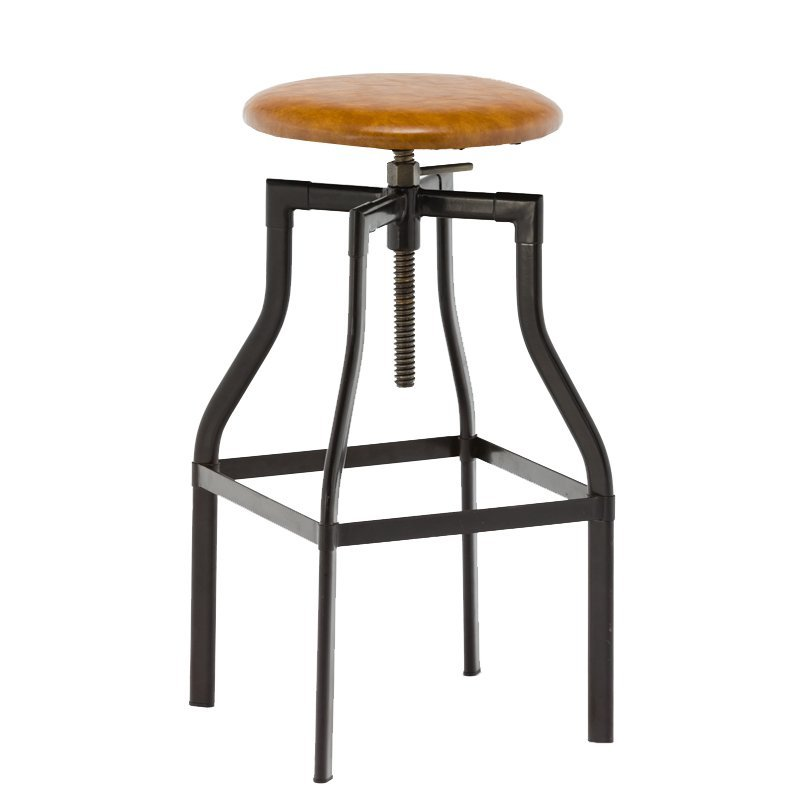 Round PVC Seat Stool Adjustable Metal Stool GA601C-65STP