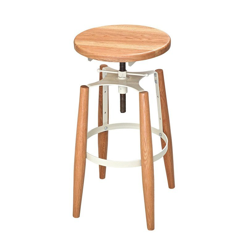 Wooden Bar Stool Industrial Style GA604C-65STW