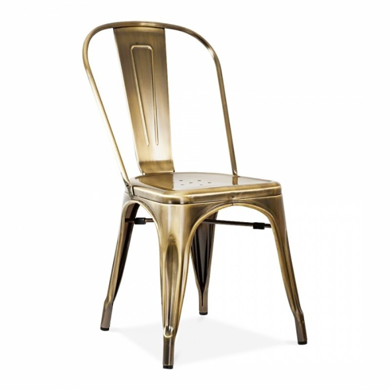 Modern High Guangdong Ring Back Dining metal chair Chair Indoor metal dining Chairs antique metal stool GA101C-45ST