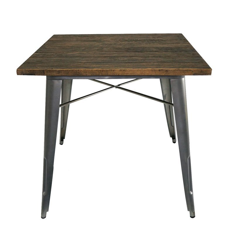 Wholesale Retro Wooden top Restaurant Dining Table for Sale 101T
