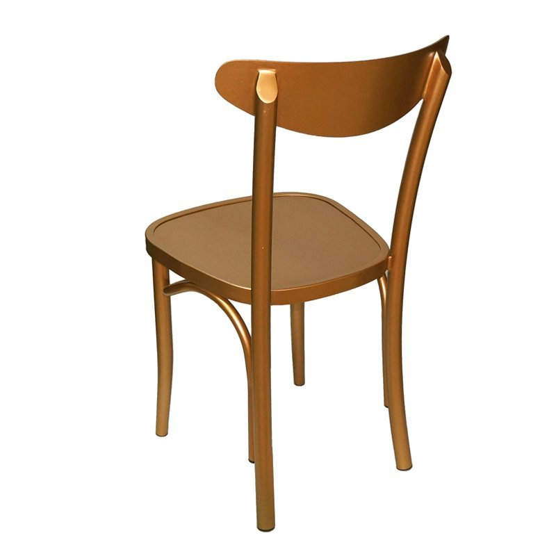 Sturdy home office furniture bent plywood stacking dining chair with metal legs GA1301C-45ST