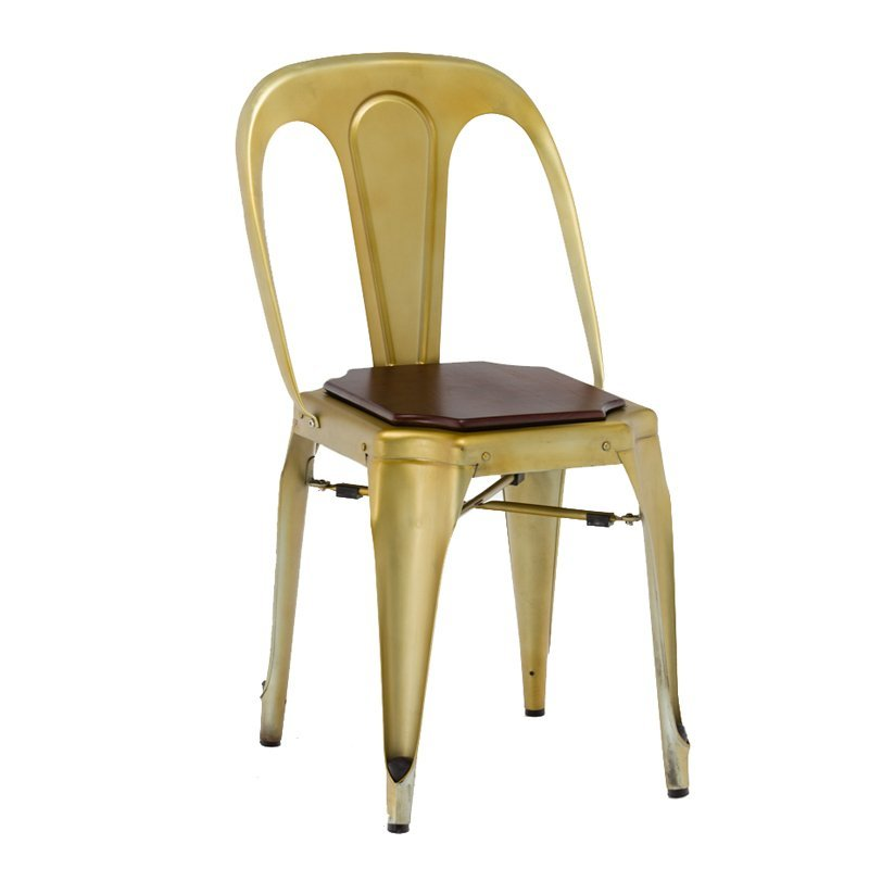 Wooden Cafe Furniture Metal and Wood Dining Chair GA2101C-45STW