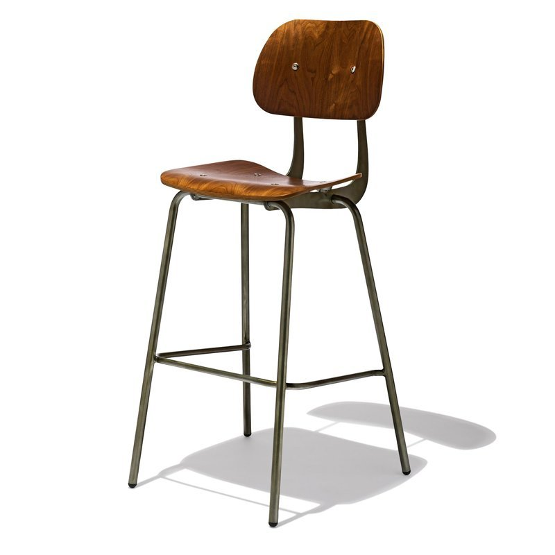 New Danish style commercial high wooden bar stool GA2001C-75STW