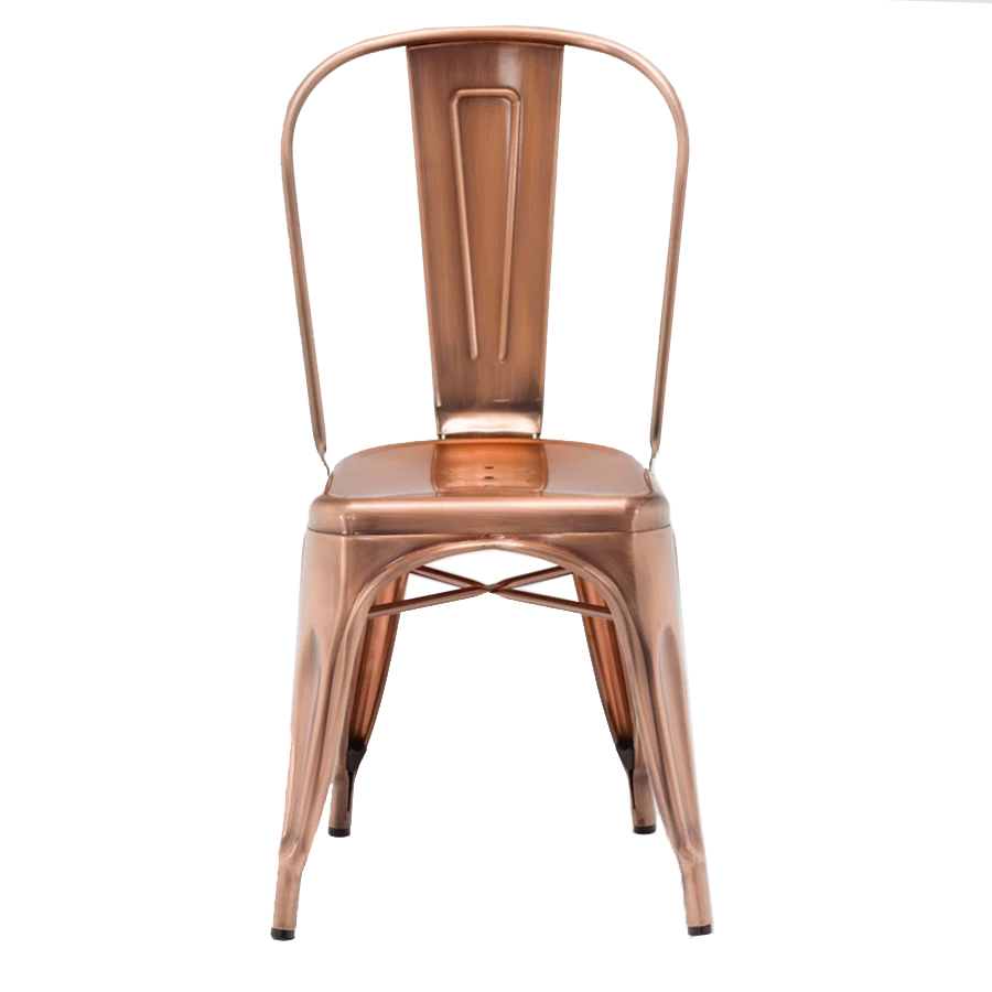 Electroplated Rose Gold Industrial Metal Chair GA101C