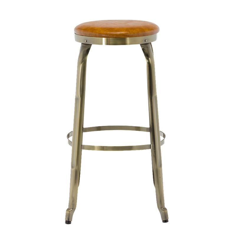 Wood Metal Bar Stool High Vintage Chair GA301C-75STP