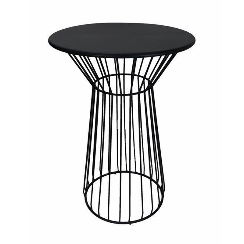 modern industrial metal wire outdoor party round bar table with wooden top GA2210BT