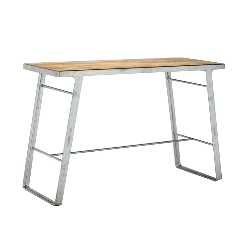 Outdoor Hot Dip Galvanized Metal Frame Bar Table GA3101BT