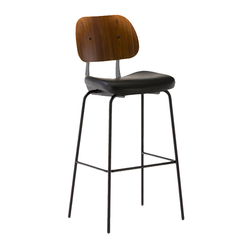 Vintage Bar Chair Industrial Bar Stool With Cushion GA3501C-75STP