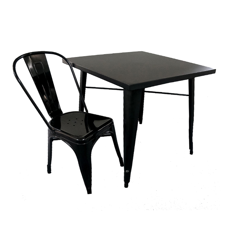 Outdoor Industrial Table and Chairs Set GA101SET