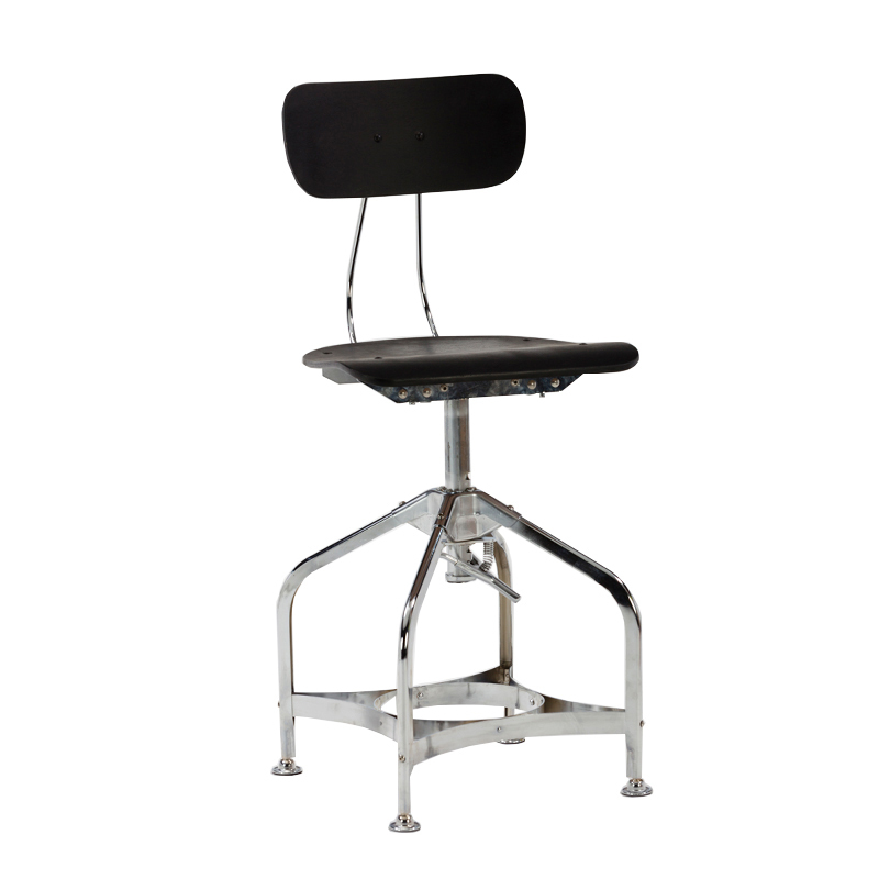 Modern Bistro Powder Coating Metal Stacking bar Stool with Wood Seat And Backrest  GA402C-45STW