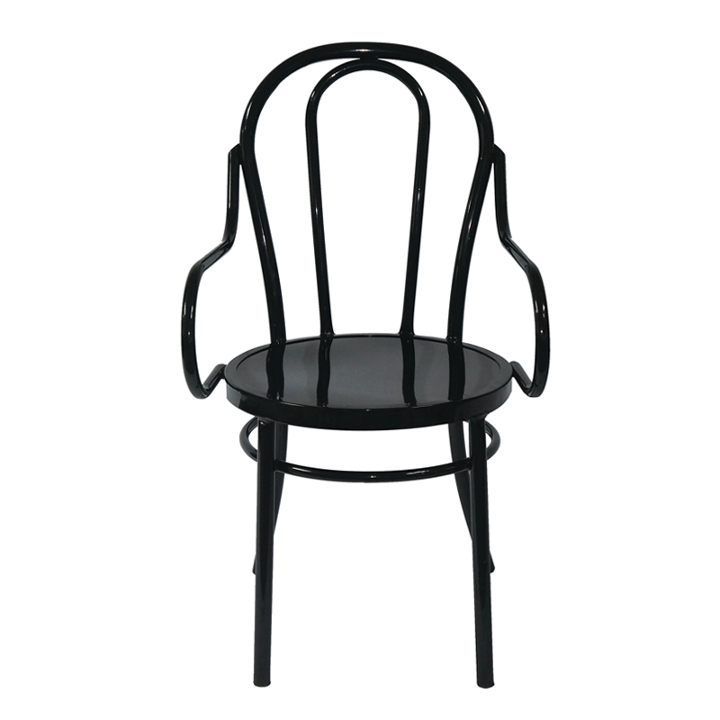 With Factory Price Clear Chairs Customized Armchairs For Restaurant Classic Simple Steel Dining Chair GA901BC-45ST