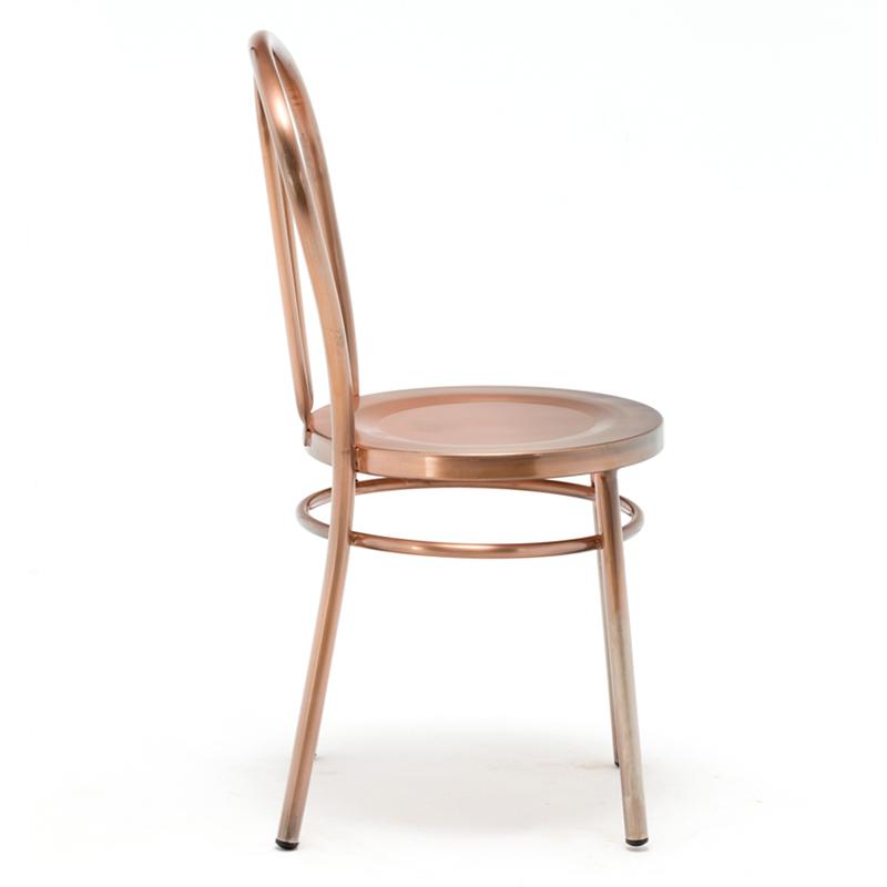 Low Backrest Coffee Shop Industrial Metal Chair GA901C-45ST
