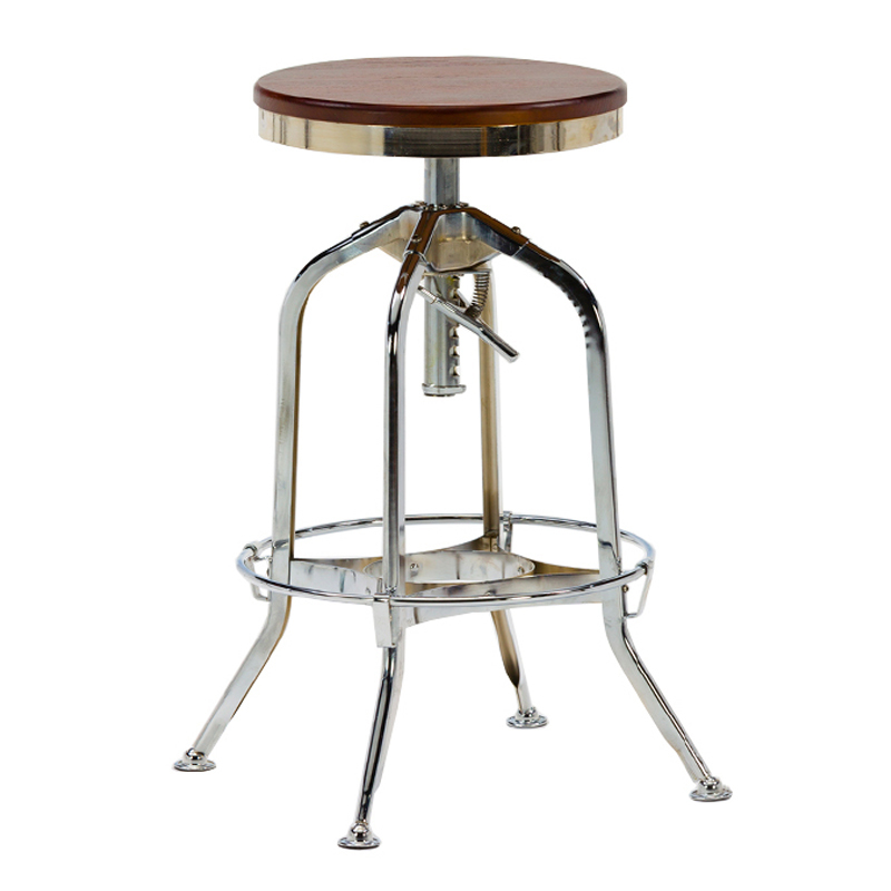 Wholesale vintage adjustable industrial bar stool With Ash Wood Seat GA401C