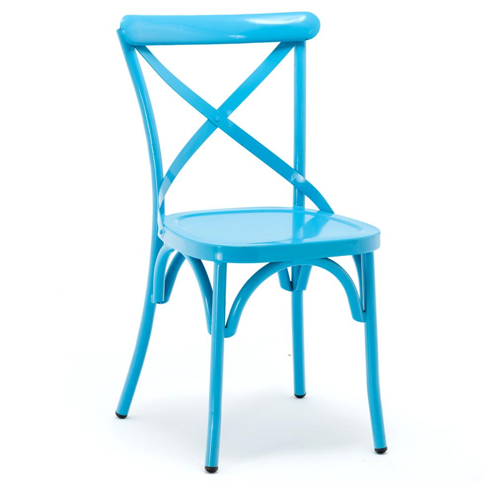 Outdoor Restaurant Furniture Stacking Cross Back Chair GA1101C-45ST