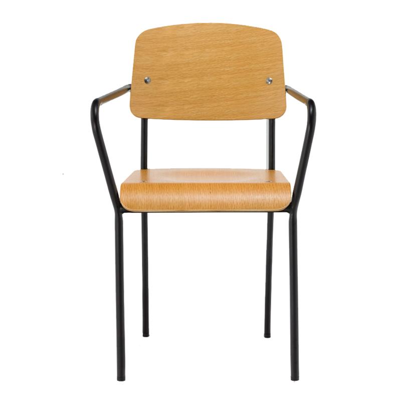 Modern Veneer Wood Dining Chairs for Home Furniture GA1701BC-45STW