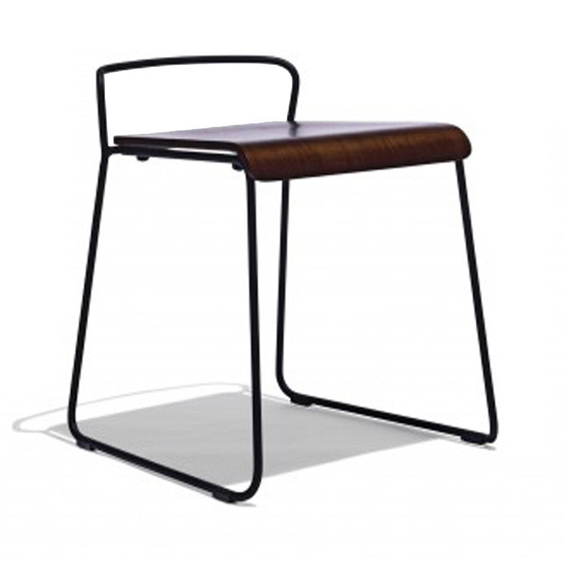 High Quality Wooden Stool Chair with Steel Legs GA3601BC-45STW