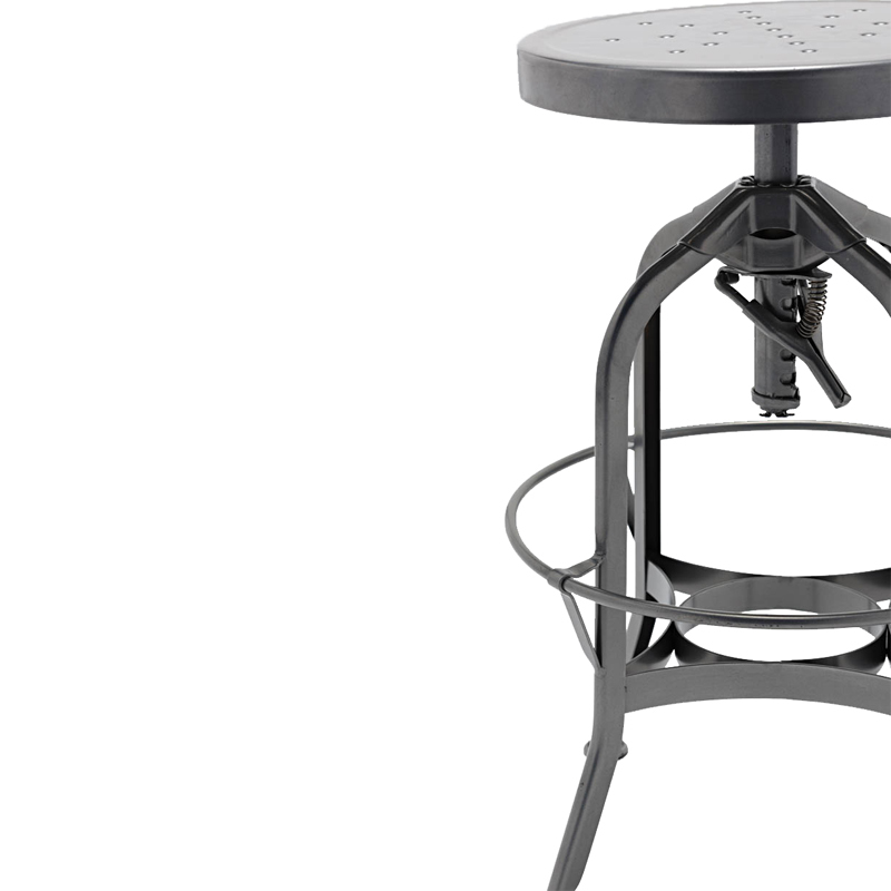 Toledo Industrial Adjustable Barstool/Vintage stool/New Gunmetal Barstool GA401C