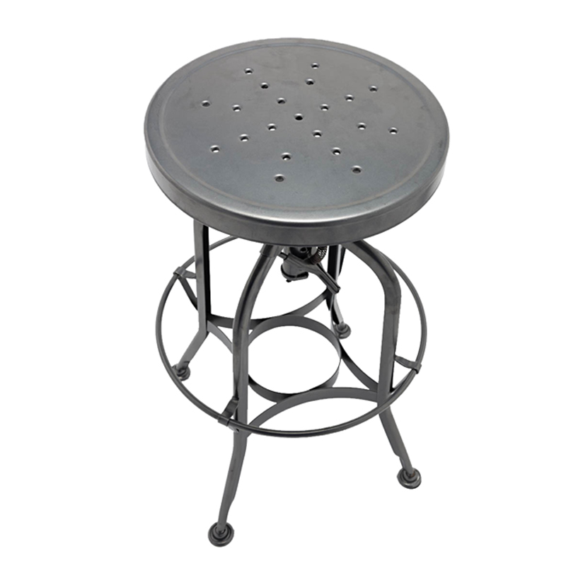 Vintage Industrial Stool Steel Bar Kitchen Swivel Chair GA401C-65ST