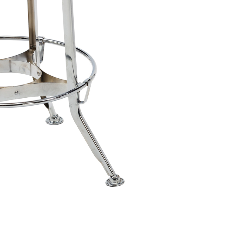 Mirror Chrome Finish Metal Industiral Metal Stool GA401C-65STW