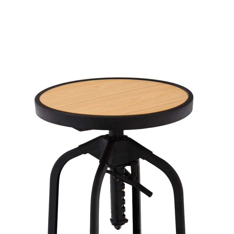 commercial furniture outdoor steel wooden vintage industrial stool metal bar chair plywood bar stool GA401C-65STPW