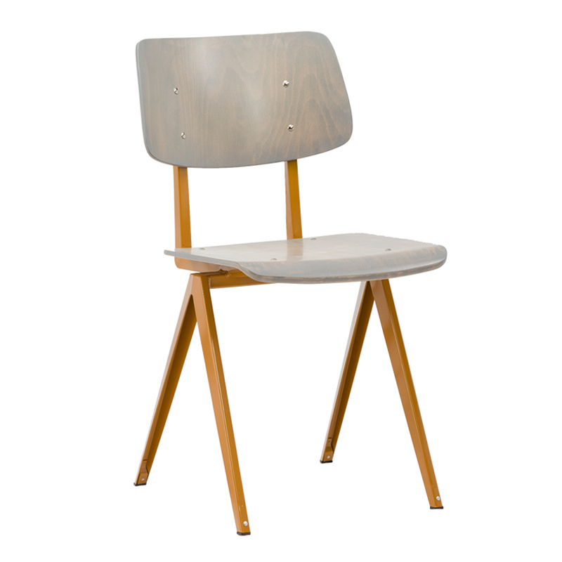 Comfortable High Curved Back Plywood Cafe Chair