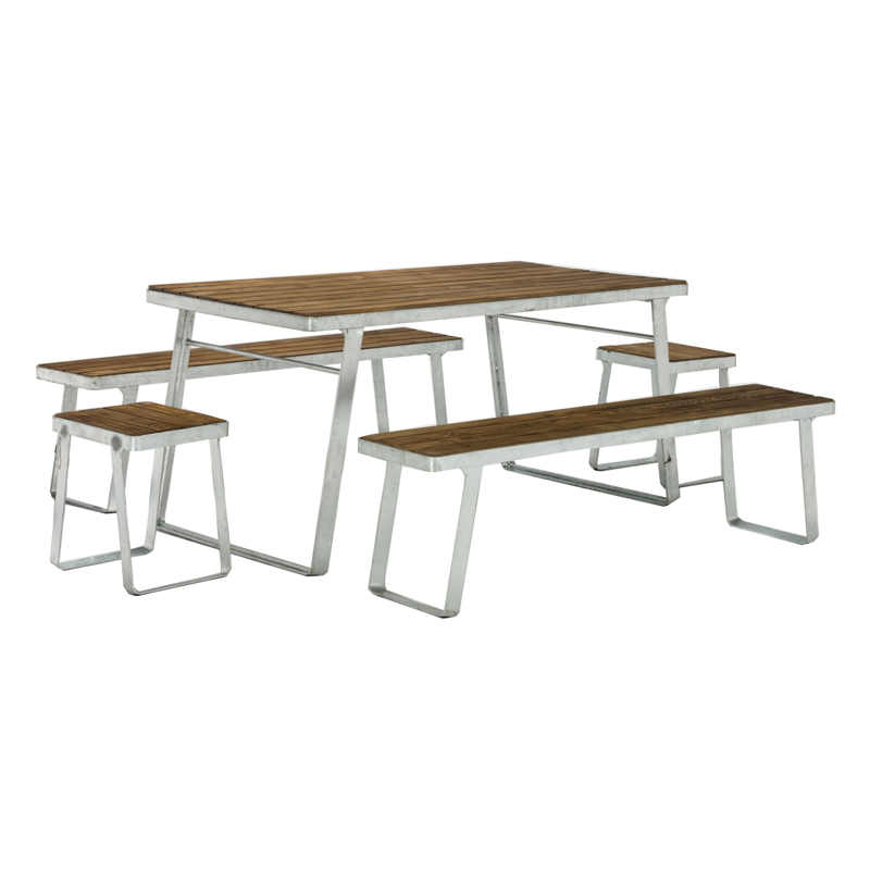 Rectangle Solid Wood Top Dining Table Set GA-CUS86