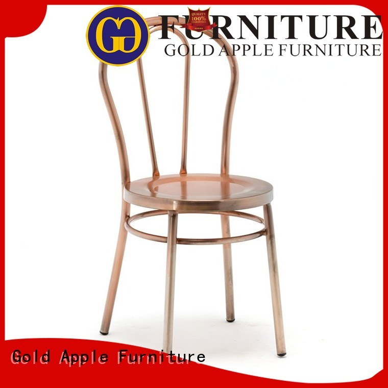 Gold Apple Brand gold soft available home metal dining chairs